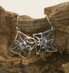UCE5 Blue Topaz Silver Earrings