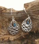 UCE6 Blue Topaz Silver Earrings