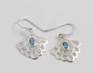 UCE8 Blue Topaz Silver Earrings